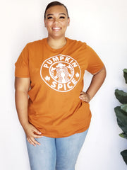 Plus Size Pumpkin Spice Graphic Tee