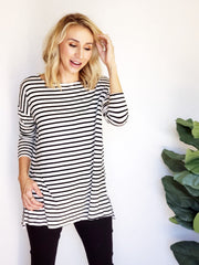 Striped Oversize Tunic Top