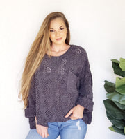 Fallen Leaf Chenille Sweater