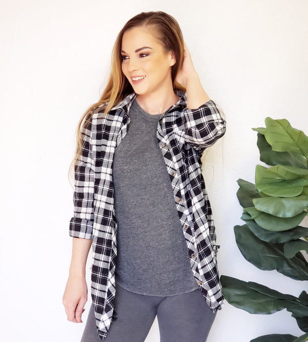 Plaid with Pocket Top