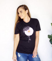 Breast Cancer Faith Flower Graphic Tee