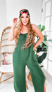 Doorbuster -Jumpsuit with Wide Slit (S-3XL)