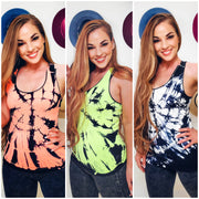 Lady's Seamless Tie Dye Top