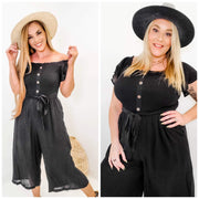 Solid Woven Midi Jumpsuit (S-3XL)