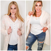 Long Sleeve Multi Color Knit Cardigan with Hoodie(S-3XL)