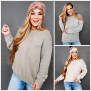 Easel - Long Sleeve Boxy Sweater