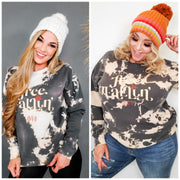 Free Falling Charcoal Bomba Graphic Sweater (S-3XL)