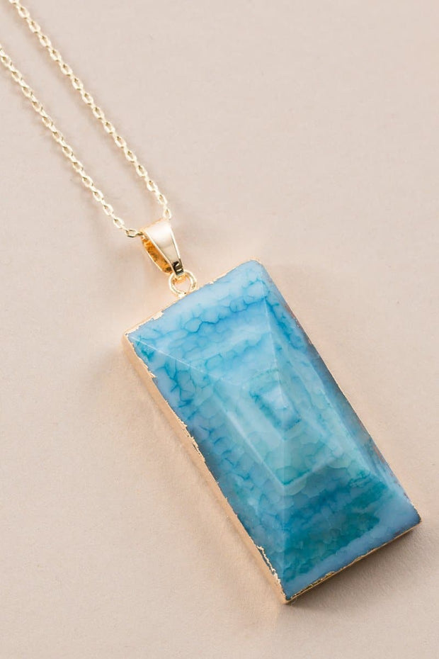 Point Cut Stone Necklace