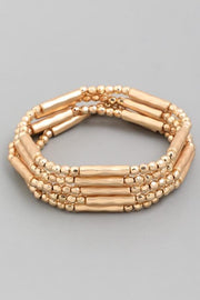 Stretchable Tube Bead Bracelet Set