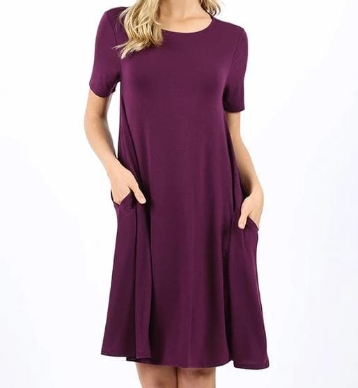 Plus Size Doorbuster Short Sleeve A-Line Dress with Pockets