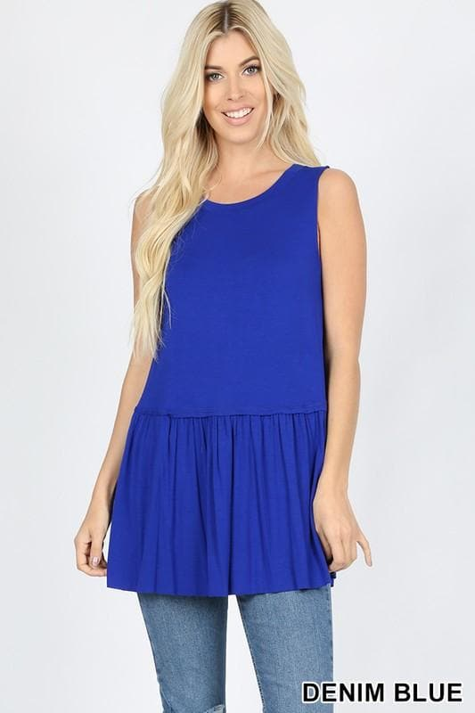 Ruffle Bottom Sleeveless Top