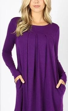 Plus Size DOORBUSTER  Pleated Top with Pockets