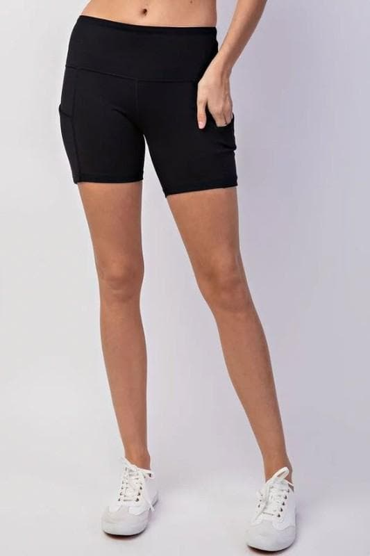 Mid Length Biker Shorts with Side Pocket