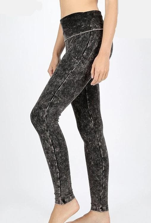 Plus Size Doorbuster Mineral Washed Fold Over Waist Leggings