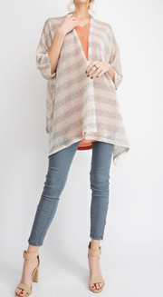 Open Striped Cardigan