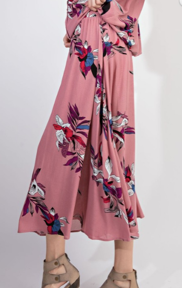 Easel - BOHO TROPICAL MAXI SKIRT