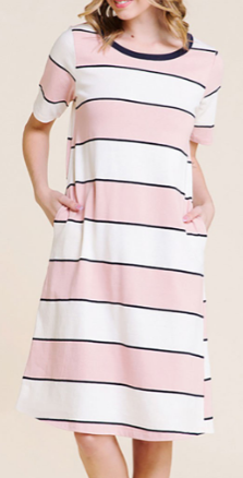 Easy Knit Stripe Dress