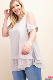 Cold Shoulder Chiffon Top