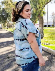 Tie Dye Striped Top (S-2XL)
