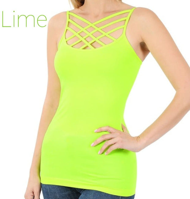 Doorbuster - Seamless Triple Criss-Cross Front Cami (S-3XL)