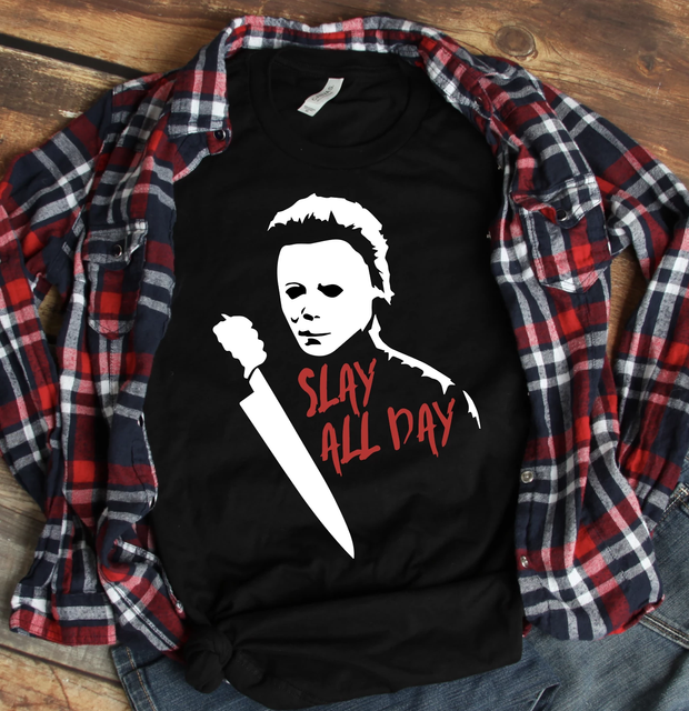 Slay All Day Bella and Canvas Unisex Jersey Short Sleeve Graphic Tee