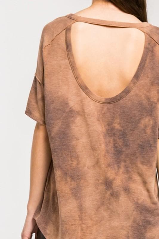 Tie Dye French Terry Open Back Top