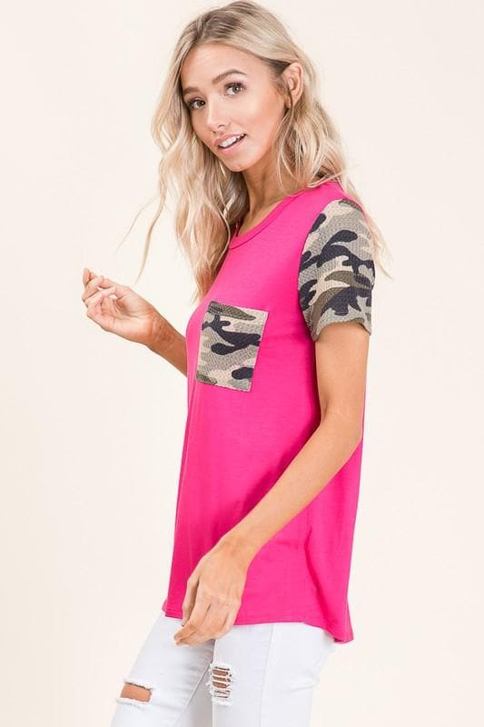 Casual Camo Pocket Tunic