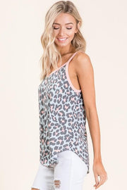 Casual Animal Print Sleeveless Top