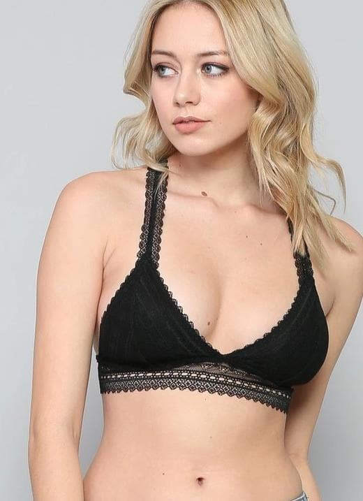 Racer Back Lace Bralette with Padding