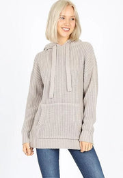 Doorbuster Hooded Long Sleeve Heavy Sweater with Kangaroo Pockets