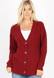 Doorbuster Long Sleeve V-Neck Button Down Cardigan Sweater