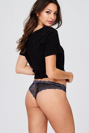 Lace 2-Tone Cheeky Panties