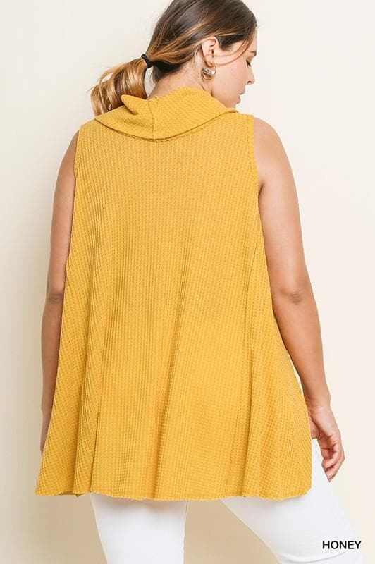 Plus Size Sunny in Philly Cowl Neck Tank Top