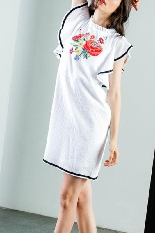 Sweet Escape Embroidered Shift Dress