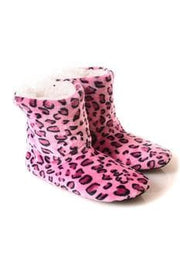 Patterned Faux Sherpa Lined Slipper Booties