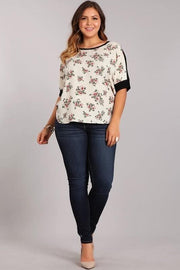 Plus Size Multi Print Floral Top