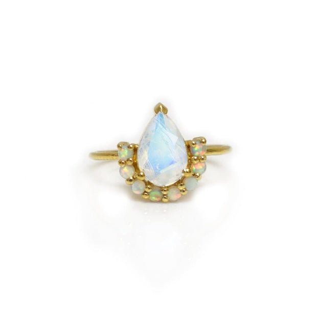 Opal & Moonstone Ballerina Ring