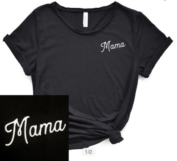 Embroidered Mama Graphic Tee