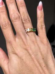 May Birthstone Ombre Stone Ring in Gold