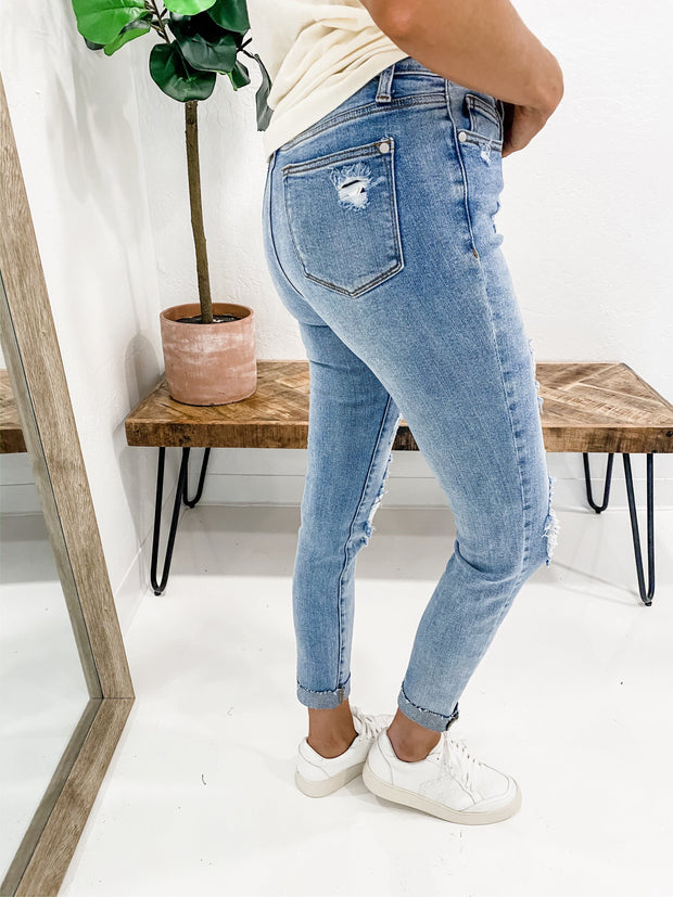 Judy Blue - #1 Blue Ribbon High Waisted Skinny Jeans (0-24W)