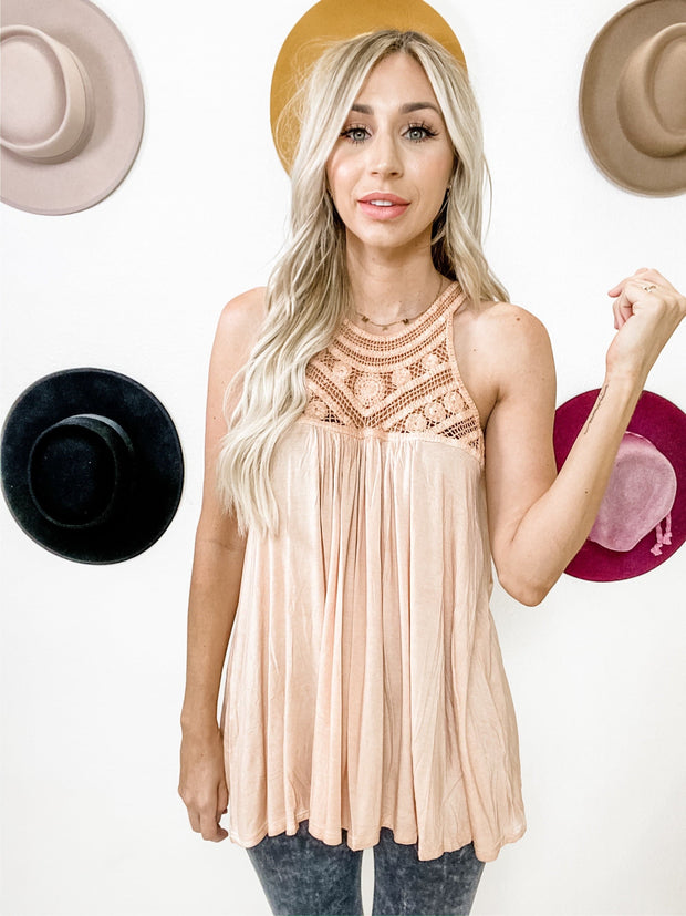 Pol - Relaxed Sleeveless Babydoll Top