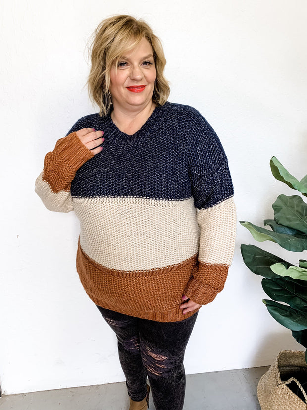 Plus Size Oversized Knit Sweater