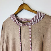 Striped Layered Hoodie