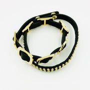 Studded Leather Bangle Bracelet