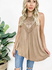 Doorbuster Crochet Lace Detail Tank Top