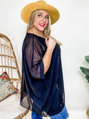 Easel - Semi-Sheer Dolman (Fits S-2XL)