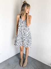 Leopard Cami Dress With Pockets