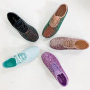 Women's Glitter Metallic Fashion Sneakers