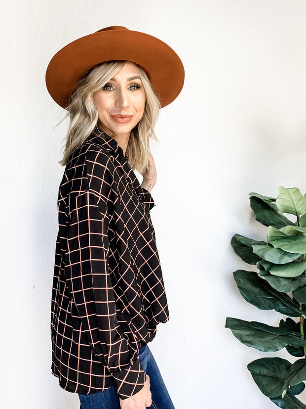 Rusty Dreams Plaid Button Down Shirt