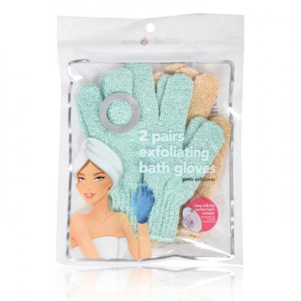 Set of 2 Pairs of Exfoliating Bath Gloves - SPA SAVVY